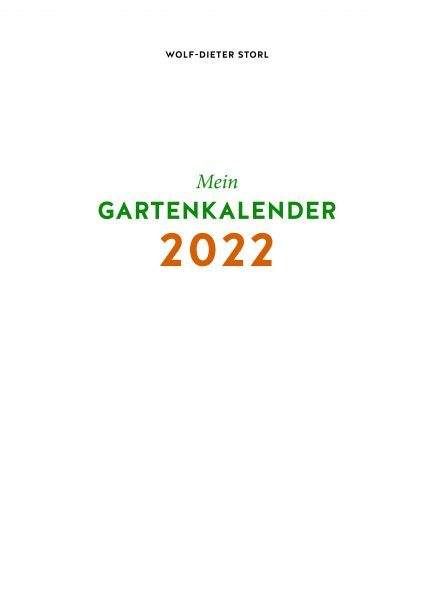 Mein persönlicher Gartenkalender 2022
